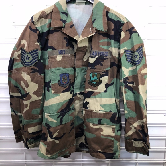 a213a016dda US Air Force Jackets & Coats | Woodland Camo Hot Weather Coat M Long ...